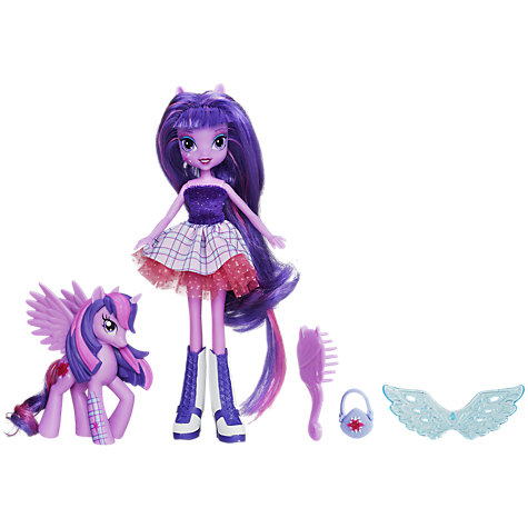 Buy My Little Pony Equestria Doll With Pony, Assorted Online at johnlewis.com