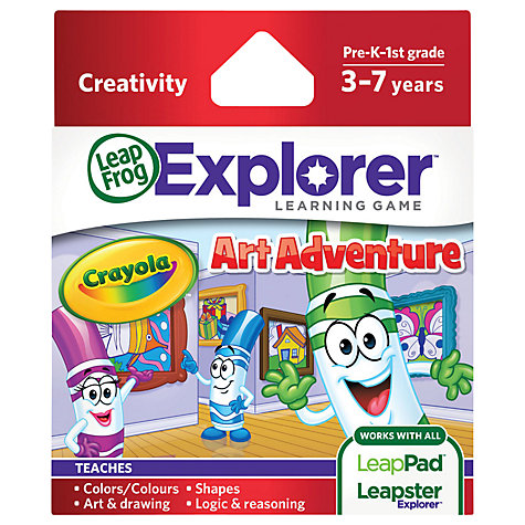 Buy LeapFrog Explorer Crayola Art Adventure Game Online at johnlewis.com