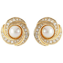 Buy Susan Caplan Vintage 1960s Grosse Gold Plated Faux Pearl Swirl Clip-On Earrings Online at johnlewis.com