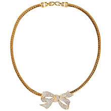 Buy Susan Caplan Vintage 1980s Nina Ricci Gold Plated Crystal Bow Necklace Online at johnlewis.com
