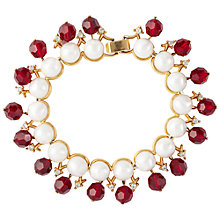 Buy Susan Caplan Vintage 1960s Trifari Faux Pearl and Swarovski Bracelet, Ruby Online at johnlewis.com