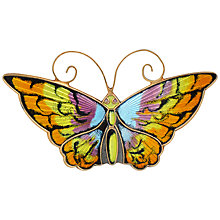 Buy Sharon Mills David Anderson Enamel Butterfly Brooch, Multi Online at johnlewis.com