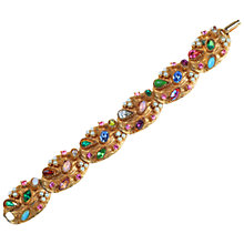Buy Alice Joseph Vintage 1950s Hargo Assorted Stone Gilt Bracelet, Multi Online at johnlewis.com