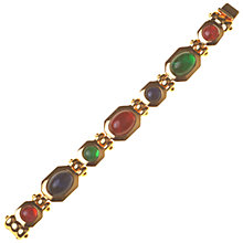Buy Alice Joseph Vintage 1980s Grosse Gilt Glass Cabochon Braclelet, Multi Online at johnlewis.com