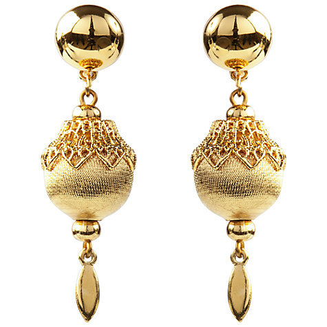 Buy Susan Caplan Vintage 1970s Monet Filigree Ball Drop Earrings Online at johnlewis.com