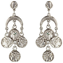 Buy Susan Caplan Vintage 1970s Trifari Silver Plated Coin Drop Earrings Online at johnlewis.com