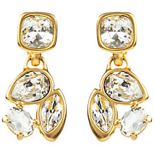Buy Susan Caplan Vintage 1980s Gold Plated Swarovski Crystal Multi-Cut Clip-On Earrings Online at johnlewis.com