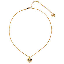 Buy Susan Caplan Vintage 1980s Givenchy Swarovski Detail Heart Pendant, Gold Online at johnlewis.com