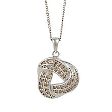 Buy Sharon Mills 9ct White Gold Diamond Swirl Pendant Online at johnlewis.com