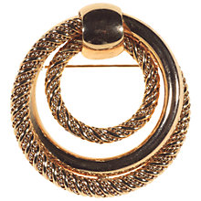Buy Alice Joseph Vintage 1970s Grosse Gilt Textured Circle Brooch Online at johnlewis.com