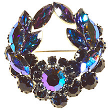 Buy Alice Joseph Vintage 1950s Diamante Wreath Brooch, Navy Online at johnlewis.com