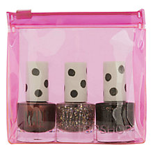 Buy TOPSHOP Mini Nail Trio Set, Dark Glitter Online at johnlewis.com