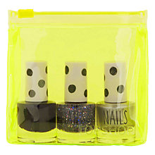Buy TOPSHOP Mini Nail Trio Set, Purples Online at johnlewis.com