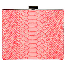 Buy Coast Coralie Box Clutch Handbag, Coral Snake Online at johnlewis.com
