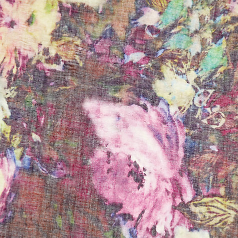 Buy Jigsaw Digital Floral Scarf, Purple Online at johnlewis.com