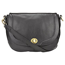 Buy Jigsaw Sandringham Leather Satchel, Black Online at johnlewis.com