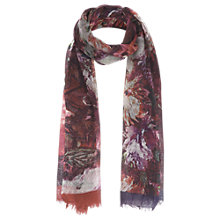 Buy Jigsaw Digital Floral Scarf, Red Online at johnlewis.com