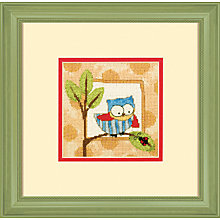 Buy Curious Owl Cross Embroidery Kit Online at johnlewis.com