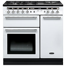 Buy Rangemaster Hi-LITE Dual Fuel Range Cooker and Cooker Hood, White Online at johnlewis.com
