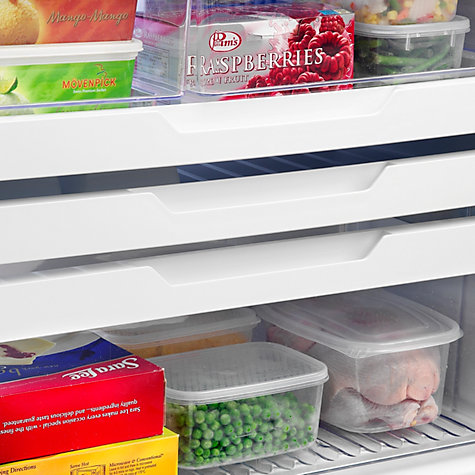 Buy Fisher & Paykel E522BLXFDU4 Fridge Freezer, A+ Energy Rating, 80cm Wide, Stainless Steel Online at johnlewis.com