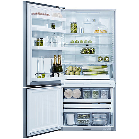 Buy Fisher & Paykel E522BLXFD4 Fridge Freezer, A+ Energy Rating, 80cm Wide, Stainless Steel Online at johnlewis.com