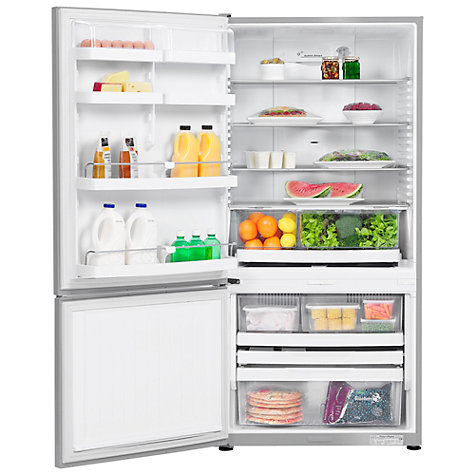 Buy Fisher & Paykel E402BLX4 Fridge Freezer, A+ Energy Rating, 64cm Wide, Stainless Steel Online at johnlewis.com