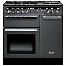 Buy Rangemaster Hi-LITE Dual Fuel Range Cooker and Cooker Hood, Slate Grey Online at johnlewis.com