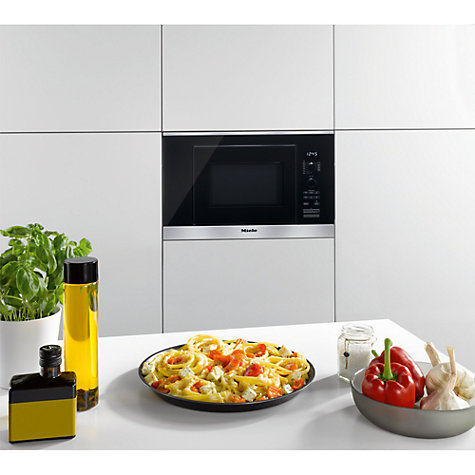 Buy Miele M6032 SC ContourLine Built-In Microwave with Grill, Clean Steel Online at johnlewis.com