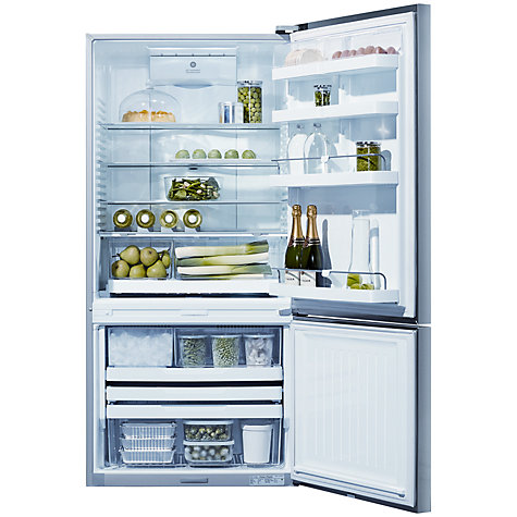 Buy Fisher & Paykel E522BRXFDU4 Fridge Freezer, A+ Energy Rating, 80cm Wide, Stainless Steel Online at johnlewis.com
