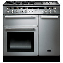 Buy Rangemaster Hi-LITE Dual Fuel Range Cooker and Cooker Hood, Stainless Steel Online at johnlewis.com