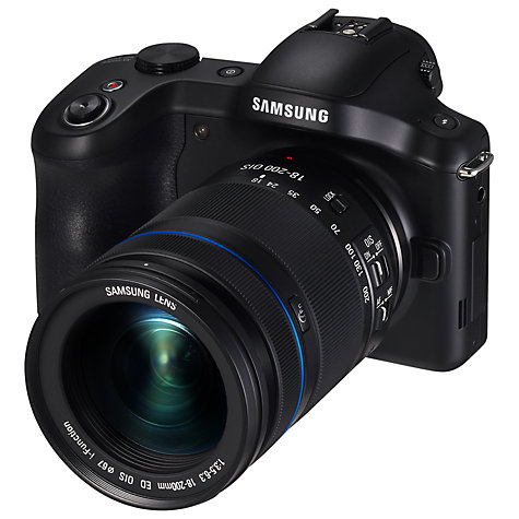 "Buy Samsung Galaxy NX Compact System Camera with 18-55mm Lens, HD 1080p, 20.3MP, Wi-Fi, GPS, EVF, 4.8"" Touch Screen Online at johnlewis.com"