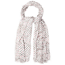 Buy White Stuff Spotted Botanical Scarf, Grey Online at johnlewis.com