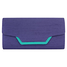 Buy Jacques Vert Contrast Trim Clutch, Prussian Blue Online at johnlewis.com