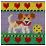 Jolly Red Puppy Embroidery Kit