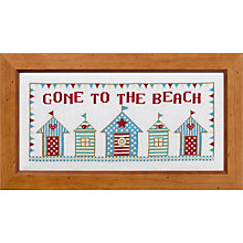 Buy The Historical Sampler Company Gone To The Beach Cross-Stitch Kit Online at johnlewis.com