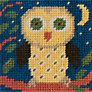 Jolly Red Little Owl Embroidery Kit