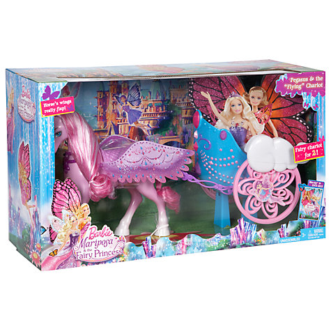 Buy Barbie Pegasus Horse and Chariot Online at johnlewis.com