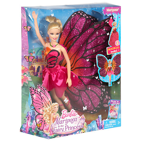 Buy Barbie Mariposa Lead Doll Online at johnlewis.com