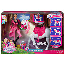 Buy Barbie Pony Tale Train and Ride Online at johnlewis.com