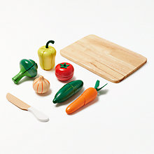 Buy John Lewis Wooden Veg Set Online at johnlewis.com