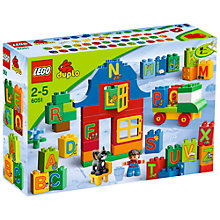 Buy LEGO Duplo Play With Letters Online at johnlewis.com
