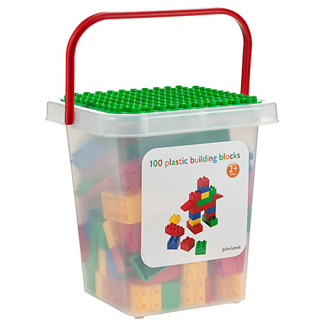 Buy John Lewis 100 Piece Brick Tub Online at johnlewis.com