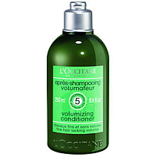 Buy L'Occitane Volumising Conditioner, 250ml Online at johnlewis.com