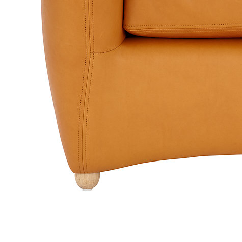 Buy Matthew Hilton for SCP Balzac Leather Armchair and Ottoman, Russet Tan Online at johnlewis.com