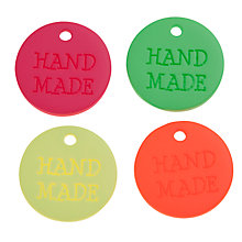 Buy John Lewis Hand Made Neon Tags, Pack of 4 Online at johnlewis.com