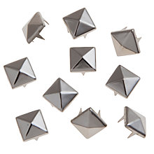 Buy John Lewis 10mm Pyramid Studs, Pack of 10 Online at johnlewis.com