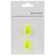 Buy John Lewis Neon 18mm Cord Stoppers, Pack of 2 Online at johnlewis.com