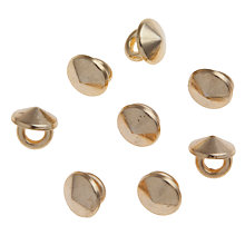 Buy John Lewis 8mm Round Studs, Pack of 8, Gold Online at johnlewis.com