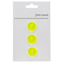 Buy John Lewis 18mm Neon Buttons, Pack of 3 Online at johnlewis.com