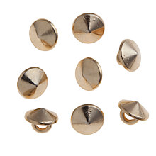 Buy John Lewis 9mm Round Stud, Pack of 8, Gold Online at johnlewis.com